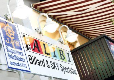 Café Alibi in Passau, Billard & SKY Sportsbar